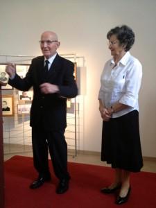 Les fondateurs, Armand et Yvette Pelettier, avec Yves Delaporte, du Musée Sourd.
